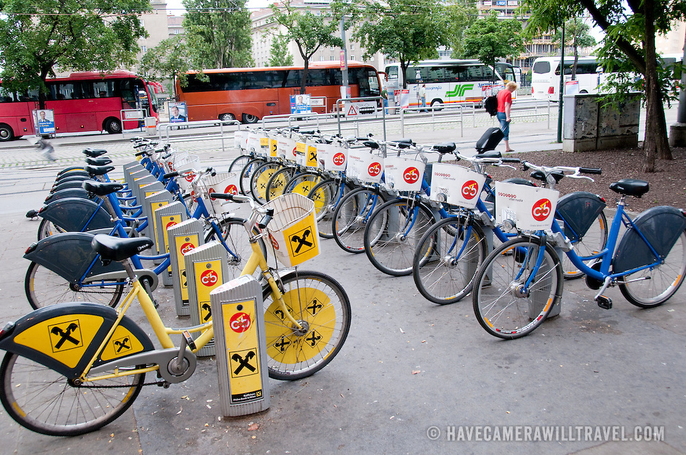 Rental bikes in Vienna, Austria