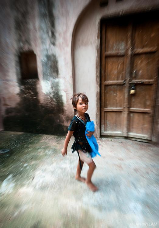Girl at Safardjung's Tomb - Delhi, India