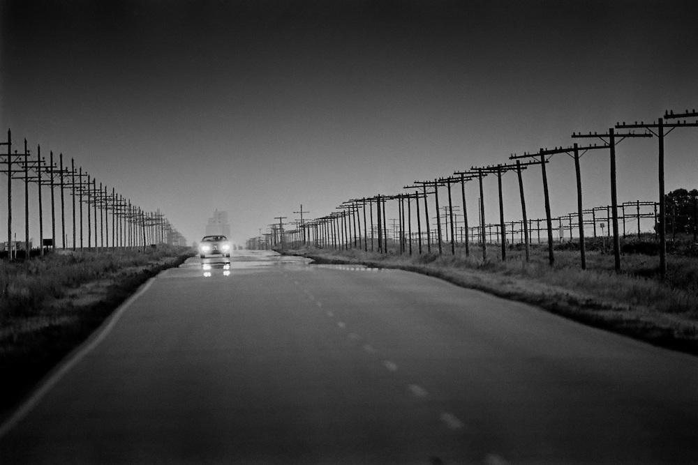 A long road in western Kansas