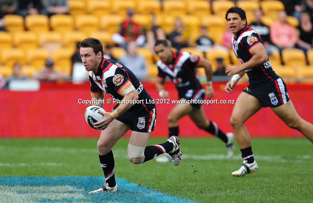 James Maloney of the Warriors during the NRL game, Vodafone Warriors v Penrith Panthers, Mt Smart Stadium, Auckland, Sunday 19 August  2012. Photo: Simon Watts /photosport.co.nz