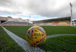 General view of a matchball before the Scottish Premiership match at The Energy Check Stadium at Firhill, Glasgow.