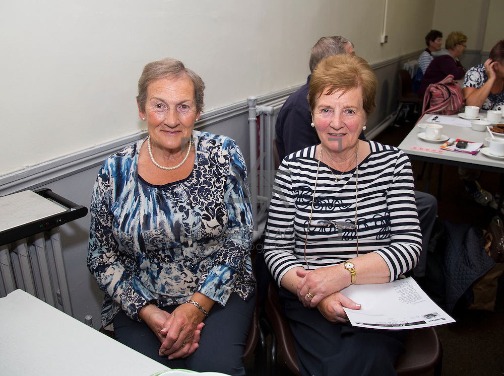 01.10.14            <br /> The Limerick City Community Safety Partnership will host a Safety Information Day for Older People. The event will feature important personal and home safety information for older people. Nutritional advice, occupational therapy, and care and repair demonstrations will also be provided. Advice and literature on a range of issues will be provided on the day by agencies including An Garda Síochána, Limerick City and County Council, Home Instead Senior Care, Limerick Fire and Rescue Service and the HSE. <br /> Attending the event at St. Johns Pavilion were, Catherine Boyce and Betty Kennelly, of Ballyagran. Picture: Alan Place.