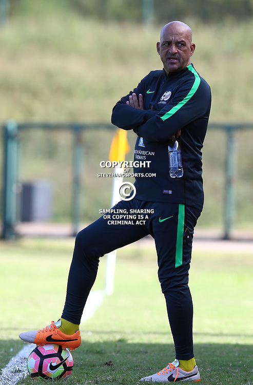 Owen Da Gama during the Bafana Bafana Training at People's Park, Moses Mabhida Stadium in Durban,21st March 2017 (Steve Haag)