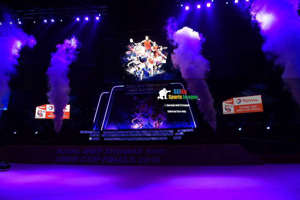 BANGKOK, THAILAND - MAY 25: Stage entrance during the Semi-Finals match at the BWF Total Thomas and Uber Cup Finals 2018, Impact Arena , Bangkok, Thailand on May 25, 2018.<br /> .<br /> .<br /> .<br /> Photo by: Naratip Golf Srisupab/SEALs Sports Images<br /> <br /> .<br /> All photo must include a credit line adjacent to the content: Naratip Golf Srisupab/SEALs Sports Images