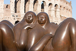 Jiménez Deredia sculptures in Rome: at the colosseum