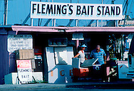 Fresh bait and seafood stand or outdoor store on the fishing harbor dock in rockport, Texas, USA. Shrimp boats for catching Texas Gulf Coast shrimp. Fishing, Fishing, Shrimp, Shrimping, Oyster, oystering, Fresh, Seafood, Texas