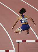 Sydney McLaughlin (USA) wins women's 400m hurdles semifinal for the top qualifying time during the IAAF World Athletics Championships, Wednesday, Oct 2, 2019, in Doha, Qatar. (Claus Andersen/Image of Sport)