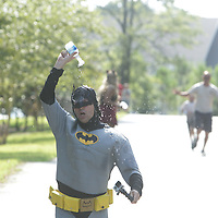 Children and adults took part in the Super Hero Fun Run Saturday July 26, 2014 at the Myrtle Grove Library in Wilmington, N.C. (Jason A. Frizzelle)