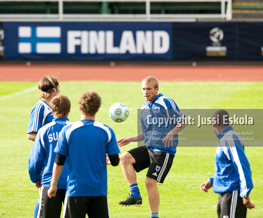 Jussi Vasara. Alle 21-vuotiaiden maajoukkueen harjoitukset. Häckenin stadion, Göteborg, Ruotsi 20.6.2009. Photo: Jussi Eskola