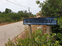 Entrance to the Monte Judeu's village (suspect's house), Portugal, on June 7, 2020, where the three-year-old British girl Madeleine McCann was on holidays when she disappeared in 2007. Portuguese justice said to be questioning witnesses as part of the investigation into the 2007 disappearance of the British girl Madeleine McCann, whose case re-emerged on May 3, 2020 with the identification of a new German suspect. Photo by ABACAPRESS.COM