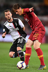 May 12, 2019 - Roma, Italia - Foto Alfredo Falcone - LaPresse.12/05/2019 Roma ( Italia).Sport Calcio.Roma - Juventus.Campionato di Calcio Serie A Tim 2018 2019 - Stadio Olimpico di Roma.Nella foto:zaniolo..Photo Alfredo Falcone - LaPresse.12/05/2019 Roma (Italy).Sport Soccer.Roma - Juventus.Italian Football Championship League A Tim 2018 2019 - Olimpico Stadium of Roma.In the pic:zaniolo (Credit Image: © Alfredo Falcone/Lapresse via ZUMA Press)