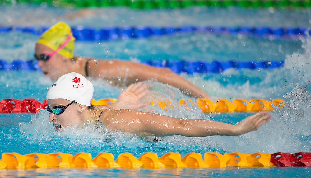Glasgow, JULY 24, 2014: Triathlon - mens and swimming session (Ryan Cochrane gold and 4x100 m freestyle relay bronze).