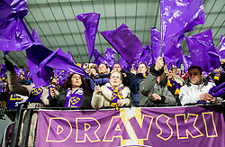 Supporters of Maribor during football match between NK Maribor and Sevilla FC (ESP) in 1st Leg of Round of 32 of UEFA Europa League 2014 on February 20, 2014 at Stadium Ljudski vrt, Maribor, Slovenia. Photo by Vid Ponikvar / Sportida
