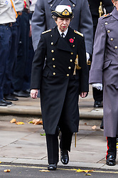 © Licensed to London News Pictures. 12/11/2017. London, UK. The PRINCESS ROYAL attends a Remembrance Day Ceremony at the Cenotaph war memorial in London, United Kingdom, on November 13, 2016 . Thousands of people honour the war dead by gathering at the iconic memorial to lay wreaths and observe two minutes silence. Photo credit: Ray Tang/LNP