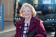 Hearts owner Ann Budge arrives for the Betfred League Cup semi-final match between Heart of Midlothian FC and Celtic FC at the BT Murrayfield Stadium, Edinburgh, Scotland on 28 October 2018.