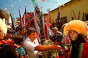 MEXICO, CHIAPAS, FESTIVALS Fiesta de Enero procession with santo