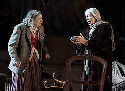 (L to R) In the picture: Linda Bassett, Frances de la Tour. .People, by Alan Bennett, The Lyttelton Theatre, NT, London, Great Britain, November 7, 2012. Photo by Elliott Franks / i-Images.