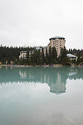 Lake Louise, Fairmont Chateau, Alberta, Canada, Banff National Park, Canadian Rockies, Rockies, turquoise, glacier lake, canoe, dock,