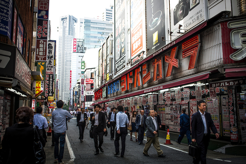 TOKYO, JAPAN - OCTOBER 20 : Yodabashi camera store in Shinjuku district Tokyo, Japan on October 20, 2015. <br /> <br /> Photo: Richard Atrero de Guzman