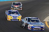 Nov. 12 2011; Avondale, AZ, USA; NASCAR Nationwide Series driver Aric Almirola (88) leads Carl Edwards (60) and Trevor Bayne (16) during the Wypall 200 at Phoenix International Raceway. Mandatory Credit: Jennifer Stewart-US PRESSWIRE