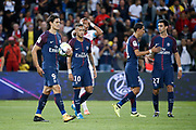 Edinson Roberto Paulo Cavani Gomez (psg) (El Matador) (El Botija) (Florestan) with the ball in hands to kick a penalty, Neymar da Silva Santos Junior - Neymar Jr (PSG), Christopher JULLIEN (Toulouse Football Club), Angel Di Maria (psg), Javier Matias Pastore (psg) during the French championship L1 football match between Paris Saint-Germain (PSG) and Toulouse Football Club, on August 20, 2017, at Parc des Princes, in Paris, France - Photo Stephane Allaman / ProSportsImages / DPPI