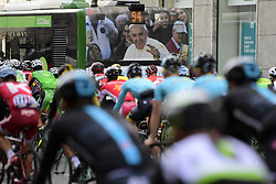 March 18, 2017 - San Remo, Italie - SANREMO, ITALY - MARCH 18 : Illustration picture showing the pope greeting the riders during the UCI WorldTour 108th Milan - Sanremo cycling race with start in Milan and finish at the Via Roma in Sanremo on March 18, 2017 in Sanremo, Italy, 18/03/2017 (Credit Image: © Panoramic via ZUMA Press)