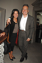 STEPHEN & FLO BAYLEY at a party to launch Links of London's Watch Collection at Il Bottacio, 9 Grosvenor Place, London on 25th September 2007.<br /><br /><br />NON EXCLUSIVE - WORLD RIGHTS