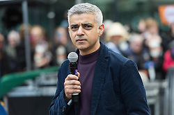 © Licensed to London News Pictures. 05/03/2017. LONDON MAYOR SADIQ KHAN takes part in a rally raising awareness of women and girls in third world countries who spend days walking for water. March also marks CARE's annual celebration for International Women's Day. London, UK. Photo credit: Ray Tang/LNP