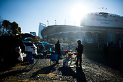 December 10, 2017: Minnesota vs Carolina. Tailgaters outside Bank of America stadium.
