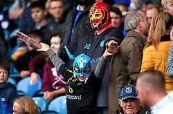 Sheffield Wednesday fans in superhero masks at Hillsborough - Mandatory by-line: Robbie Stephenson/JMP - 01/10/2017 - FOOTBALL - Hillsborough - Sheffield, England - Sheffield Wednesday v Leeds United - Sky Bet Championship