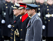London, 08-11-2015<br /> <br /> King Willem-Alexander and Queen Maxima attend the Commomoration of the World War ll at the Cenotaph.