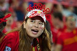BANGKOK, THAILAND - Sunday, July 28, 2013: A Liverpool supporter during a preseason friendly match against Thailand XI at the Rajamangala National Stadium. (Pic by David Rawcliffe/Propaganda)