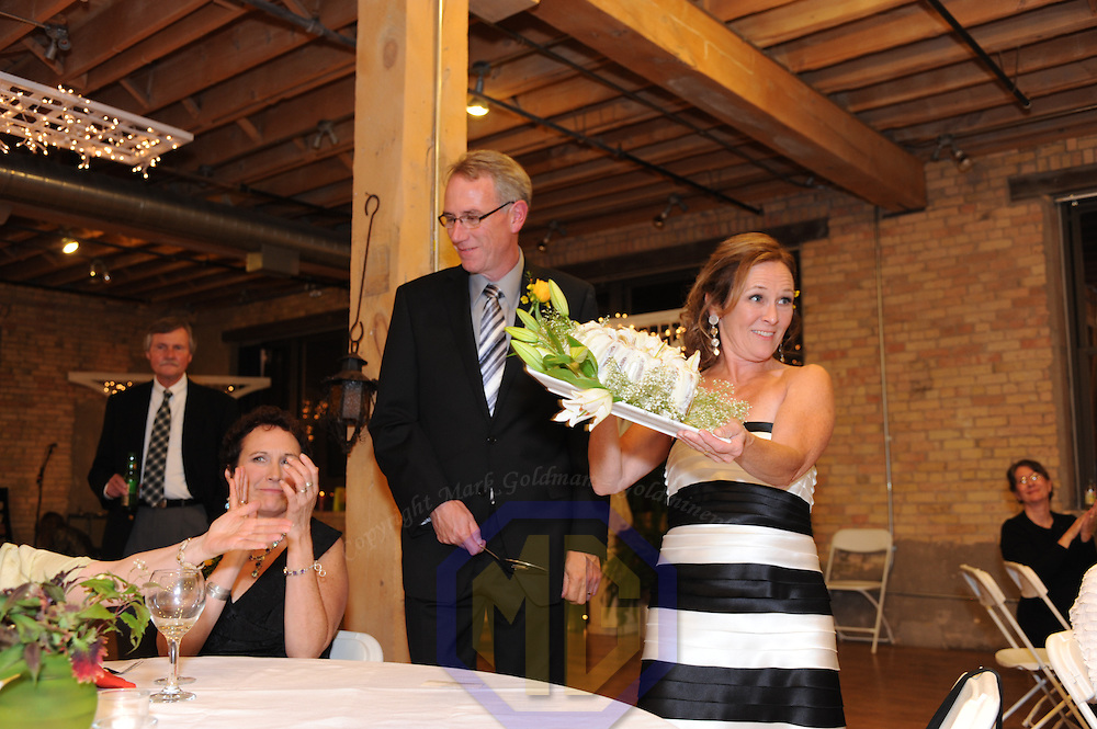 25 September 2010:  Catherine Pringle and Marcus Webster celebrate their marriage on September 25, 2010.