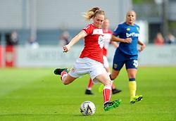 Lucy Graham of Bristol City crosses the ball- Mandatory by-line: Nizaam Jones/JMP - 28/04/2019 - FOOTBALL - Stoke Gifford Stadium - Bristol, England - Bristol City Women v West Ham United Women - FA Women's Super League 1