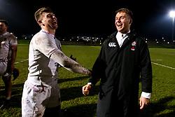 England U20 celebrate victory over Scotland U20 - Mandatory by-line: Robbie Stephenson/JMP - 07/02/2020 - RUGBY - Myreside - Edinburgh, Scotland - Scotland U20 v England U20 - Six Nations U20