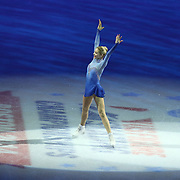 First place finisher Gracie Gold is seen during the awards ceremony following the championship ladies free skate competition at the 2014 US Figure Skating Championships at the TD Garden on January 11, 2014 in Boston, Massachusetts.