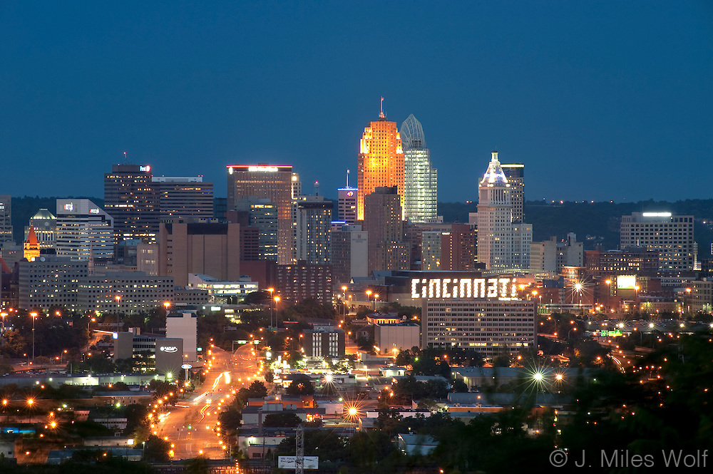 Cincinnati Skyline at night