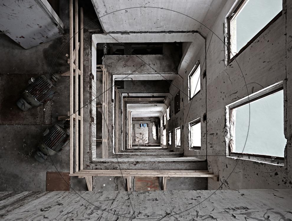 DLG-siloen Nordhavn, Unionkul, ombygning af kornsilo til luksuslejligheder, Klaus Kastbjerg, skakt