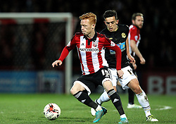 Ryan Woods of Brentford turns on the ball - Mandatory by-line: Robbie Stephenson/JMP - 05/04/2016 - FOOTBALL - Griffin Park - Brentford, England - Brentford v Bolton Wanderers - Sky Bet Championship