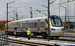 27 January 2009. Gautrain on the test tracks at the depot near Midrand. Picture. Gautrain Rapid Rail Link 02<br /> <br /> INGRID JENSEN<br /> Gautrain Rapid Rail Link<br /> <br /> E-mail:ingrid@gautrain.co.za<br /> Telephone: (011) 880-9936<br /> Facsimile: (011) 447-9920<br /> Cellular: 083-457-8715