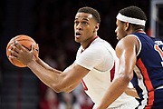 FAYETTEVILLE, AR - FEBRUARY 27:  Daniel Gafford #10 of the Arkansas Razorbacks looks to make a pass while being defended by Desean Murray #13 of the Auburn Tigers at Bud Walton Arena on February 27, 2018 in Fayetteville, Arkansas.  (Photo by Wesley Hitt/Getty Images) *** Local Caption *** Daniel Gafford; Desean Murray