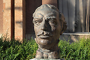 Bust of Thimi Mitko, 1820-90, folklorist and Revivalist activist of the Albanian National Awakening or Rilindja Kombetare, a period of nationalism resulting in Albania's declaration of independence in 1912. Picture by Manuel Cohen