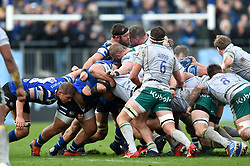 Tom Dunn of Bath Rugby in action at a scrum - Mandatory byline: Patrick Khachfe/JMP - 07966 386802 - 09/11/2019 - RUGBY UNION - The Recreation Ground - Bath, England - Bath Rugby v Northampton Saints - Gallagher Premiership