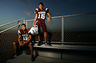 Photo by Alex Jones..Mission Eagles: #12 Nathan Salazar, #15 Filiberto Morfin