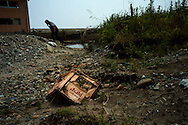 Soma, debris left by earthquake and tsunami
