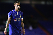 Scorer of the second goal Lee Erwin of Oldham Athletic during the EFL Sky Bet League 1 match between Oldham Athletic and Scunthorpe United at Boundary Park, Oldham, England on 18 October 2016. Photo by Simon Brady.