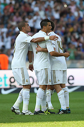 27.07.2011, Olympiastadion Berlin, GER, 1.FBL, Testspiel, Hertha BSC Berlin vs Real Madrid im Bild Dristiano Ronaldo (Real Madrid #7) macht das 1:1-Tor EXPA Pictures © 2011, PhotoCredit: EXPA/ nph/  Hammes       ****** out of GER / CRO  / BEL ******