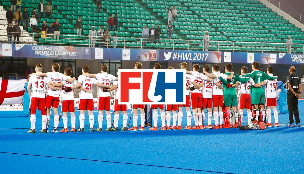 Odisha Men's Hockey World League Final Bhubaneswar 2017<br /> Match id:14<br /> England v Argentina<br /> Foto: Line UP<br /> COPYRIGHT WORLDSPORTPICS KOEN SUYK