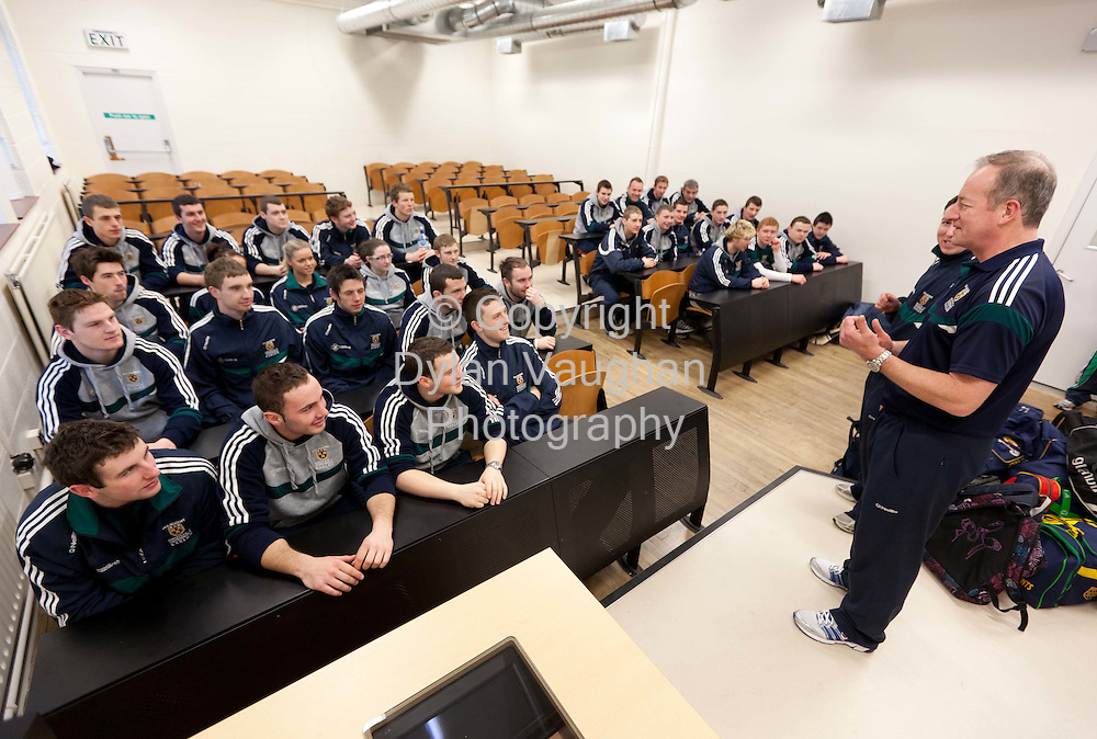 15/2/2011.Donal McNally (far) and Michael Dempsey (near) pictured taking a class at Carlow Institute of Technology..Picture Dylan Vaughan.....