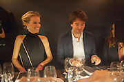 EVA HERZIGOVA; ANTOINE ARNAULT; Dinner to celebrate the opening of the first Berluti lifestyle store hosted by Antoine Arnault and Marigay Mckee. Harrods. London. 5 September 2012.